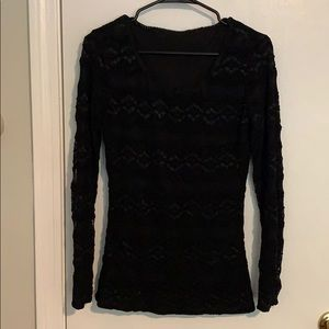 Sweaters - Black lace top